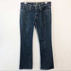 7 for all Mankind Flynt boot cut blue jean size 27